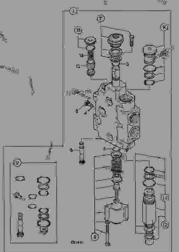 VALVE SECTION 7, BUCKET, EXCAVATOR VALVE, V.FLOW PUMP