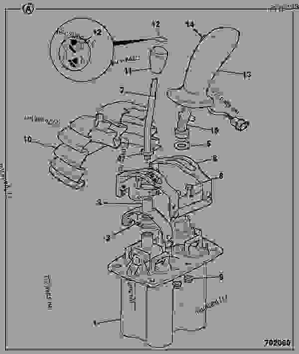 25/222102 Handle, joystick,ST type, with deutsch
