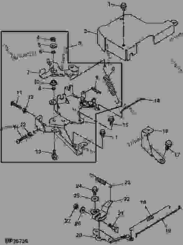 GOVERNOR AND THROTTLE LINKAGE (DUAL CHAMBER CARBURETOR