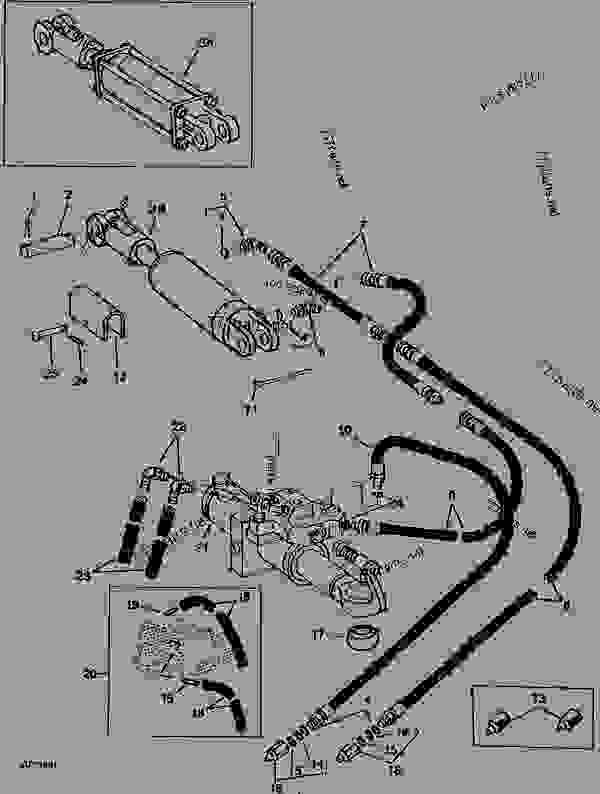 HYDRAULIC HOSES AND FITTINGS FOR LIFT CYLINDER FOR 4-, 5