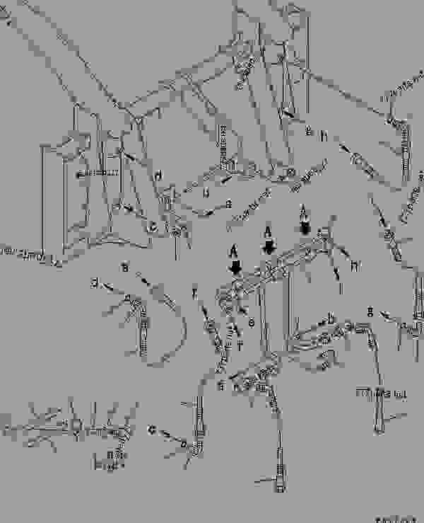 LOG LUMBER FORK GRAPPLE (2/2) (HYDRAULIC PIPING)(#50001