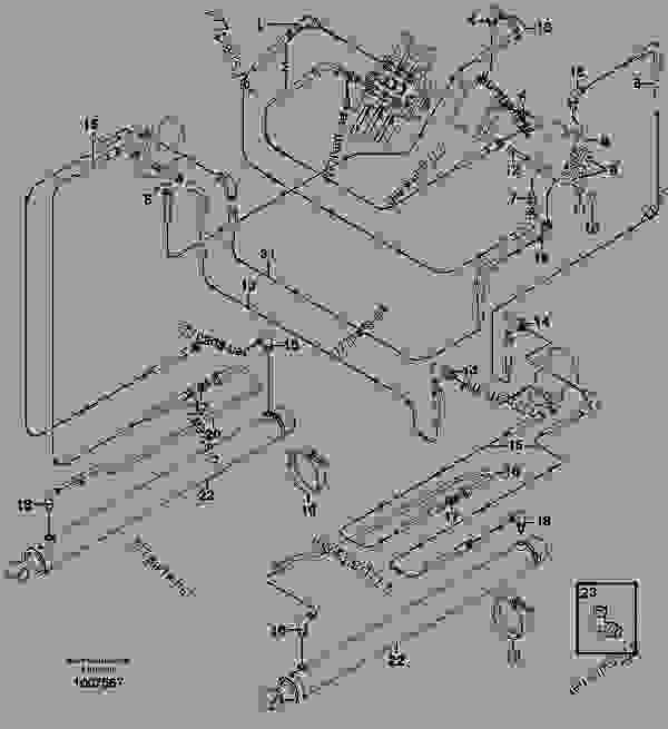 Loader arm hydraulic circuit (w/self level valve