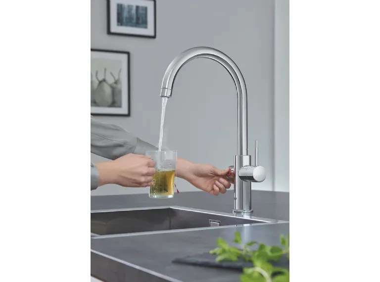 high flow kitchen faucet aerator contemporary chairs 红高仪混频器 混频器grohe
