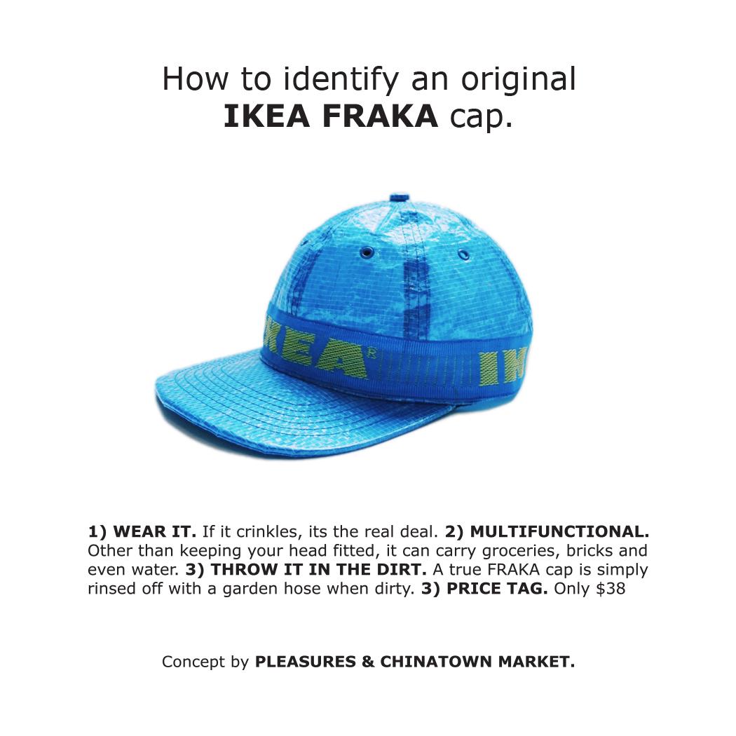 PLEASURES x Chinatown Market IKEA FRAKTA Cap
