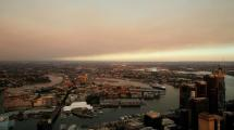 Smoke haze is seen from Sydney Tower Eye Observation Deck. Picture: Getty Images