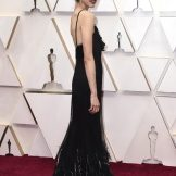 Clearly not content with her show-stealing performance in Once Upon A Time ... In Hollywood, actress Margaret Qualley has turned her attention to the Oscars red carpet. Picture: AP