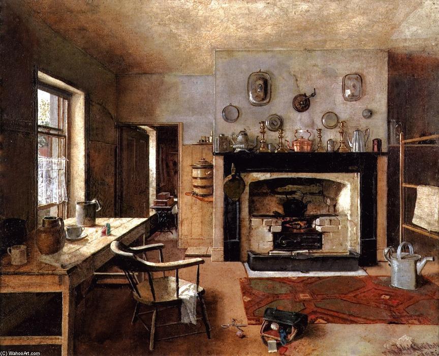 kitchen art prints navy rug 厨房在的老国王街面包店 油画通过frederick mccubbin 1855 1917