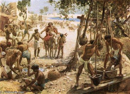 以色列人 使 磚頭 在 埃及 通過 William Brassey Hole (1846-1917, United Kingdom) | 藝術再現 William Brassey Hole | WahooArt.com
