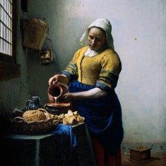 Kitchen Maid Cabinet Kits 厨房女仆通过jan Vermeer 1632 1675 Netherlands 畫再現 Wahooart Com
