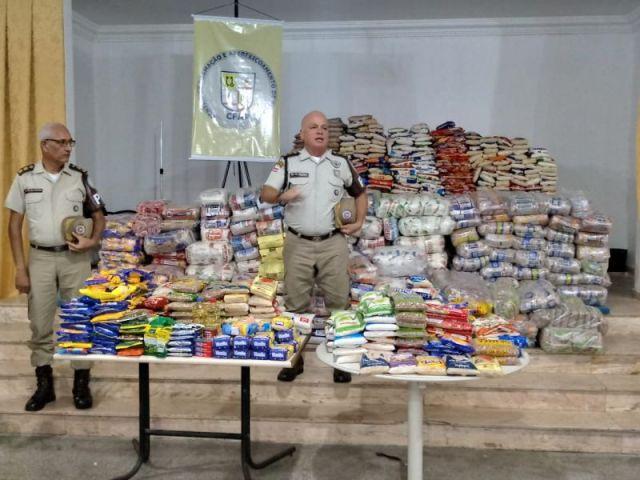 PM arrecada 9 toneladas de alimentos em campanha junto ao público interno 2