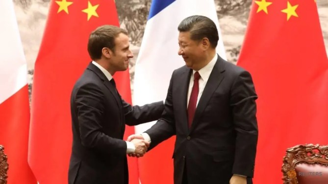 Image result for MAcron and XI