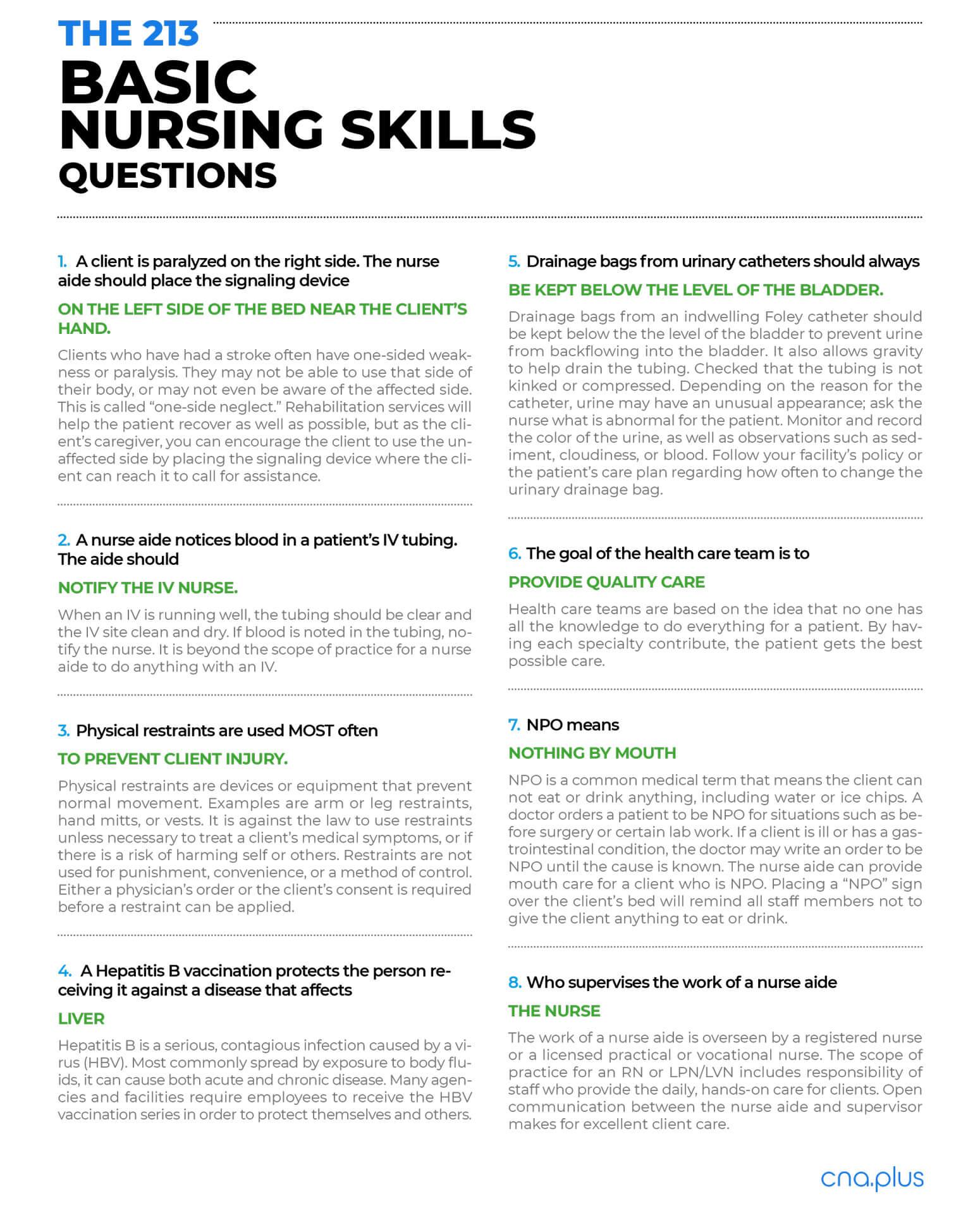 Pass Your Certified Nursing Assistant Exam Guaranteed