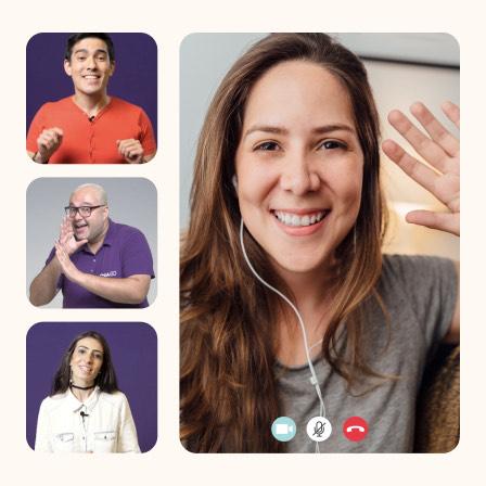 Aulas de conversação pelo celular e computador