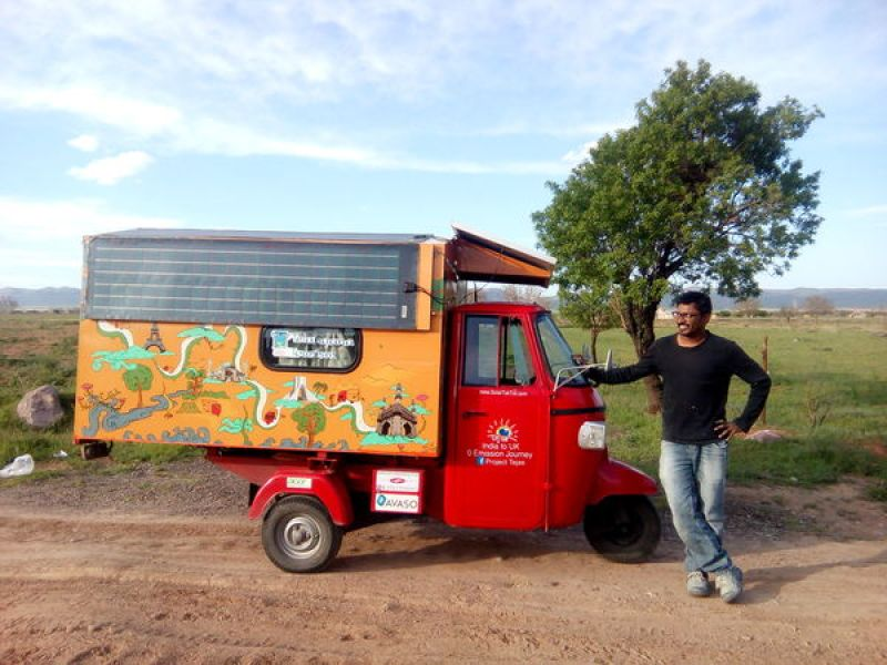 Naveen Rabelli and Tuk Tuk Tejas in Iran