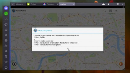 Spoof your location in Google Maps