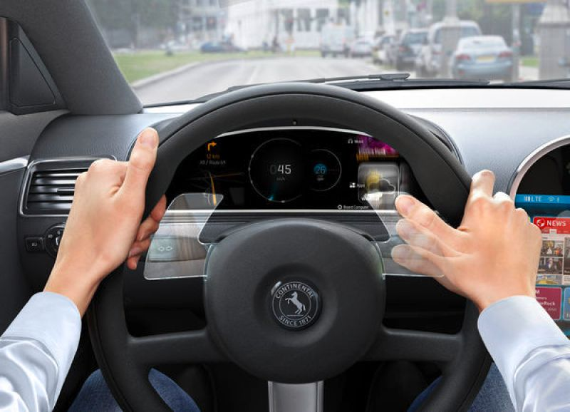 Continental's gesture-based steering wheel