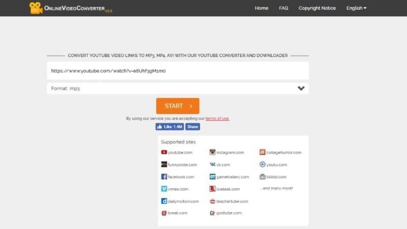 Online Video Converter screen grab