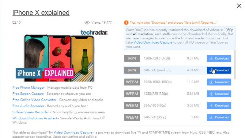 Apowersoft Online Video Downloader screen grab