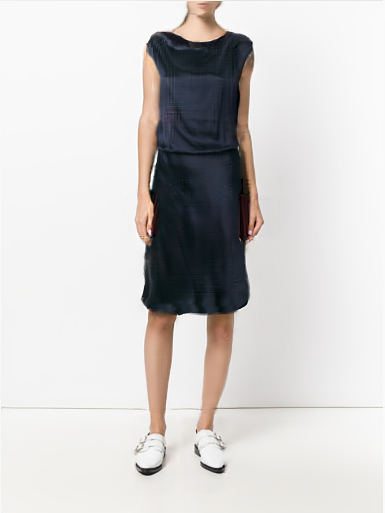 Vue-ai Showcases a Blue Dress