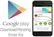 Google Play store Download Pending Status
