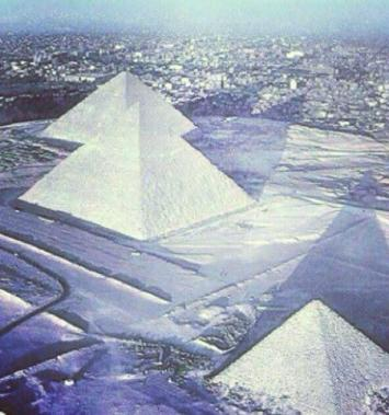 Fake Pyramids in Snow