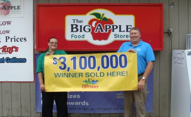 The Big Apple Food Store Sells Winning Megabucks Ticket