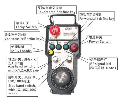 XHC CNC Wireless Remote Controller Pendant FANUC /MPG