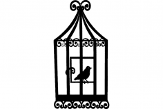 Bird Cage 2 dxf File