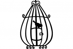 Bird Cage 3 dxf File