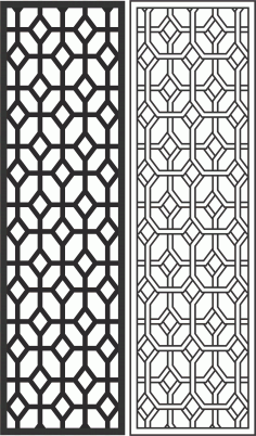 Geometric Screen Panel Free Vector