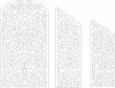 Wedding Screen Panel Free Vector