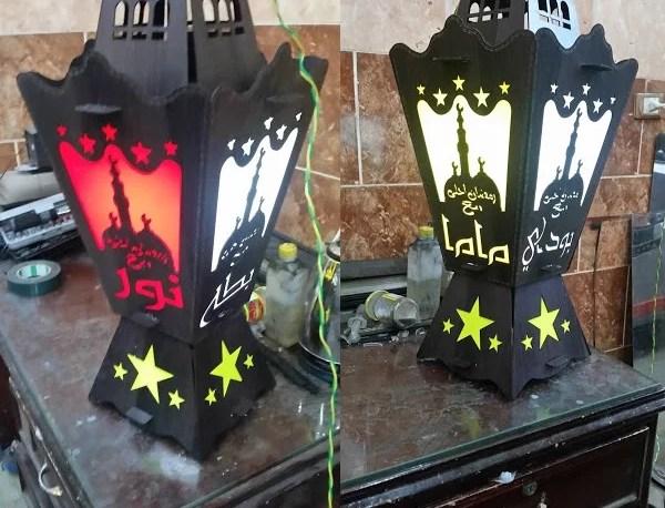Laser Cut Fanoos Ramadan Lantern Lamp DXF File