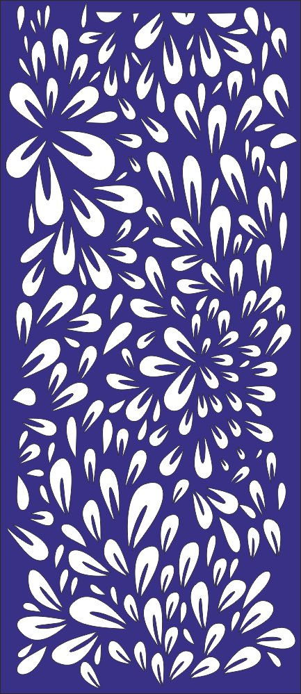 Decor Floral Pattern Vector Free Vector