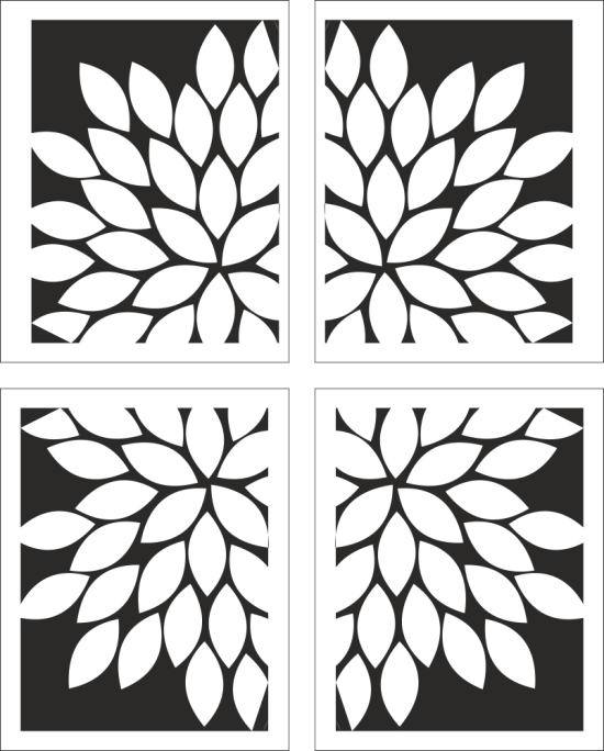 Fancy Floral Pattern Vector Free Vector