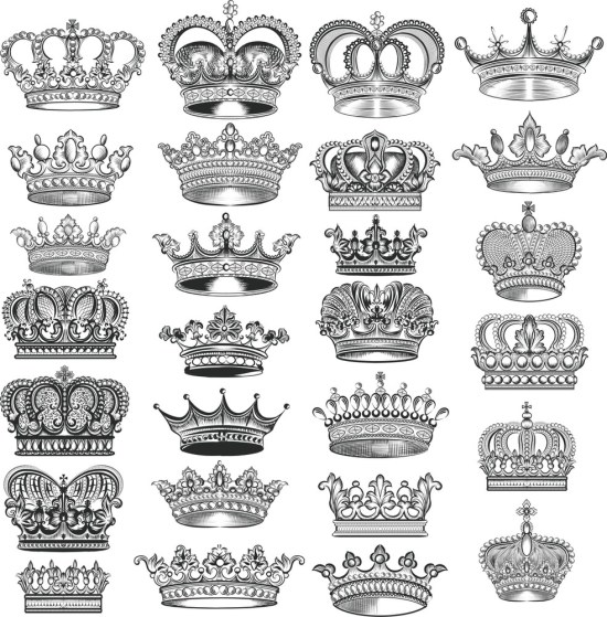 Crowns Vector Set Free Vector