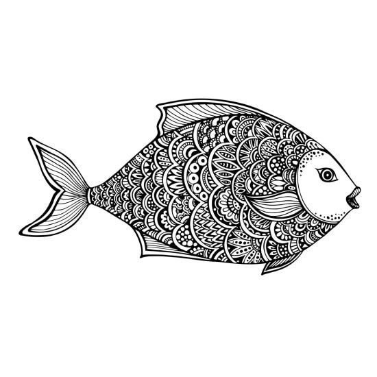 Zentangle Fish Free Vector