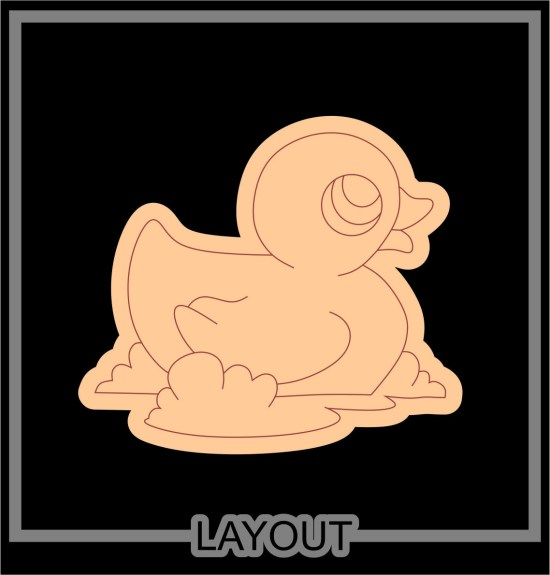 Laser Cut Engraved Duck Free Vector
