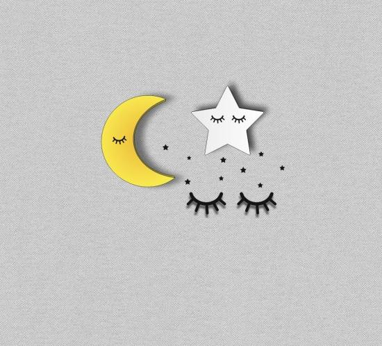 Moon Star Decoration Laser Cutting Template Free Vector