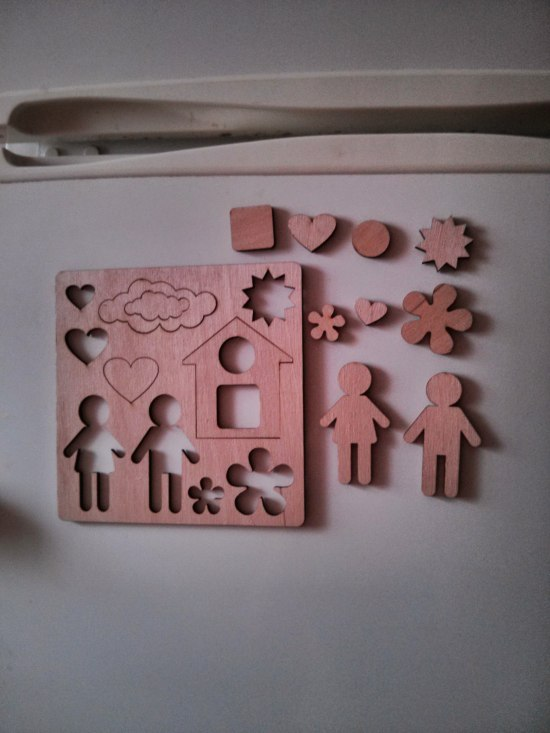 Wooden Puzzle Modern Educational Toys For Kids Laser Cutting Template Free Vector
