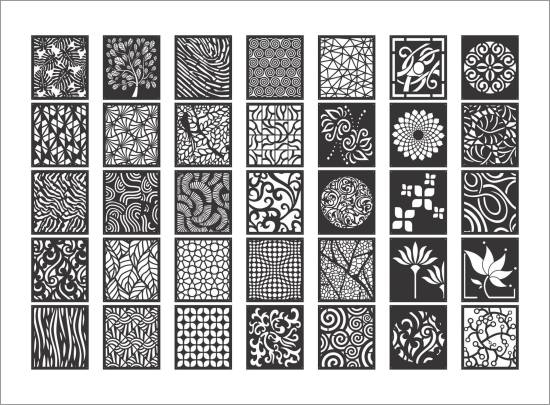 Decorative Screen Patterns Collection DXF File