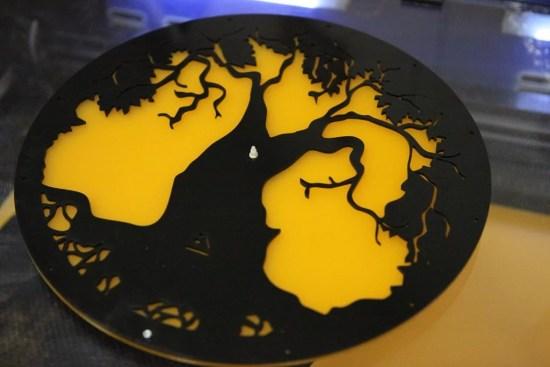 Laser Cut Acrylic Tree Design Wall Clock Free Vector
