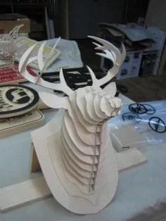 Deer Head Laser Cut Puzzle PDF File
