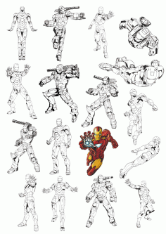 Iron Man Vectors Free Vector