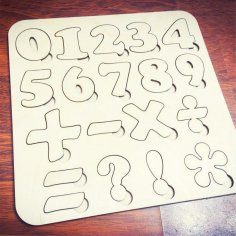 Numbers Puzzle Template Free Vector