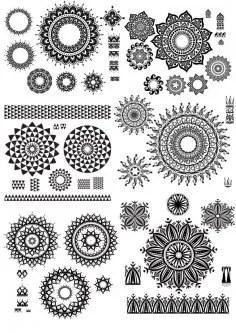 Ornamental Flourish Design Free Vector