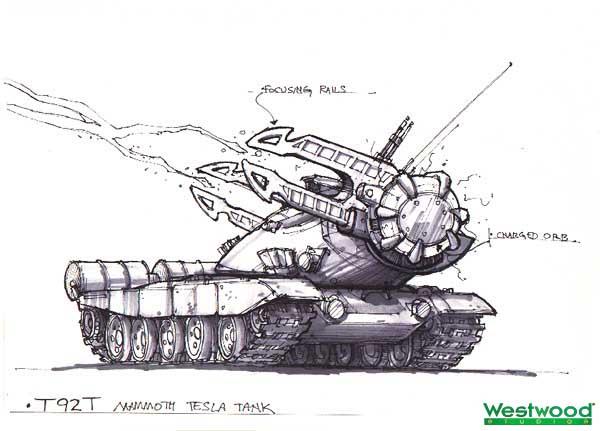 Early Tesla Tank by: TJ Frame