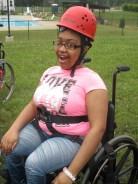 Z - CNSF - Camp Joy - wheelchair outside