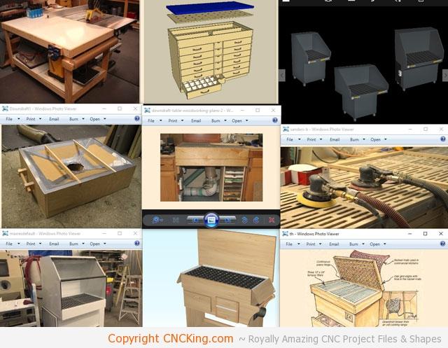 Custom CNC Laser Downdraft Table: Design - CNCKing com