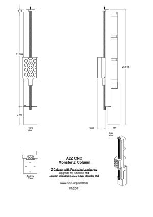 A2Z CNC Monster Z Column Upgrade for Sherling Mill pdf