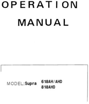 Download PDF ACER SUPRA 618AH AHD 818AHD Operation Manual
